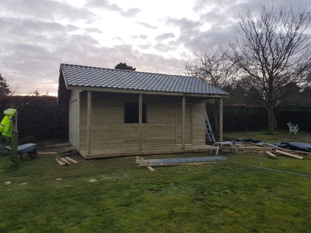 Larch clad garden room