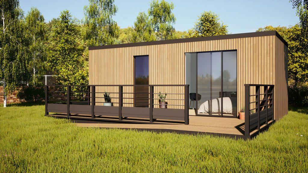 Cedar clad garden office